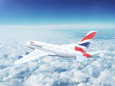 London,,Uk,-,Circa,2017:,In-flight,View,Of,British,Airways