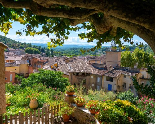 Travel,Destination,,Small,Ancient,Village,Cotignac,In,Var,,Provence,,Surrounded