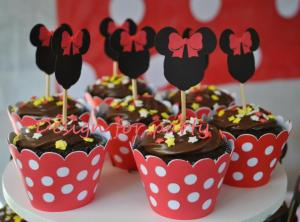 wrapers e toppers para cupcakes minnie