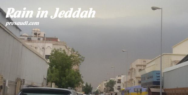 Rain in Jeddah