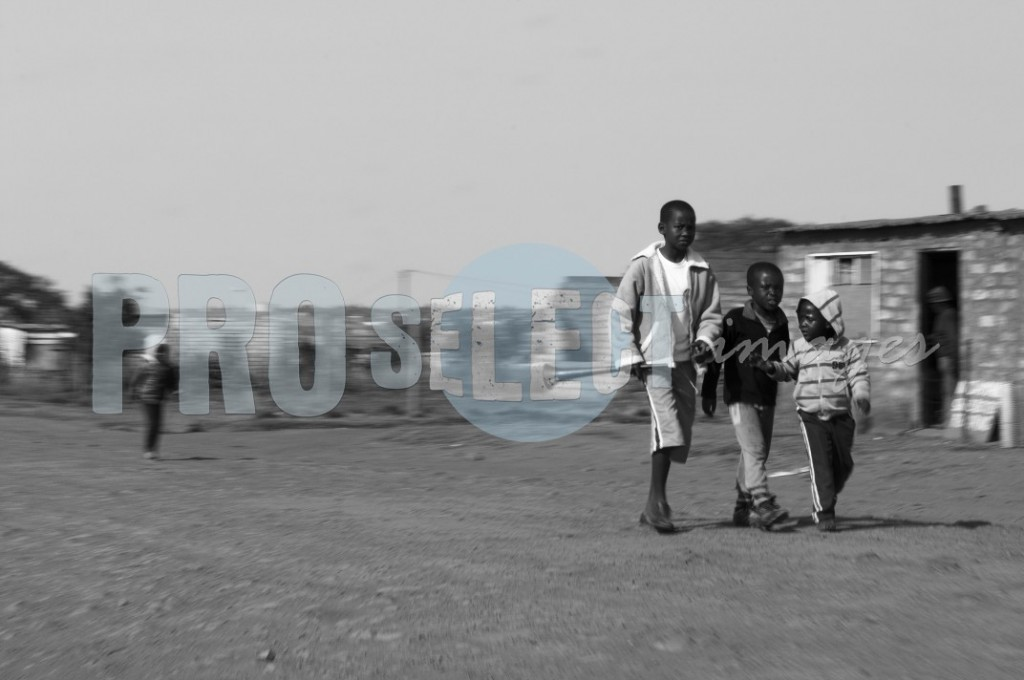 Children exploring township streets | ProSelect-images
