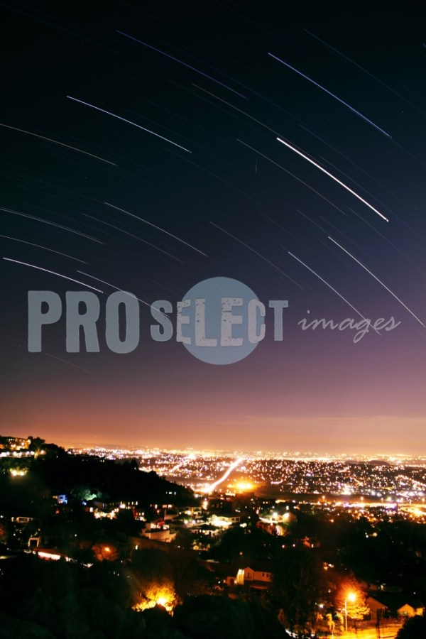 Star trail over city | ProSelect-images