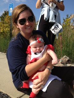 Elise and Baby Collins at Ella's Run