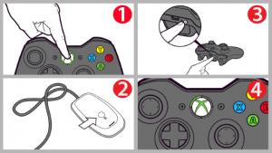 Connectez le joystick Xbox 360 à l'ordinateur via le récepteur