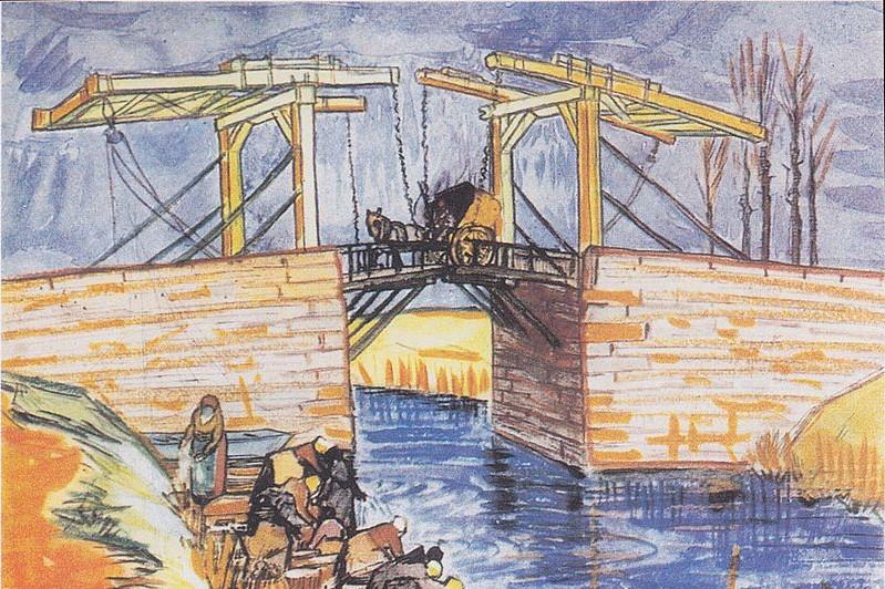 Cuadro de Gogh  - Puente Langlois - en Arles