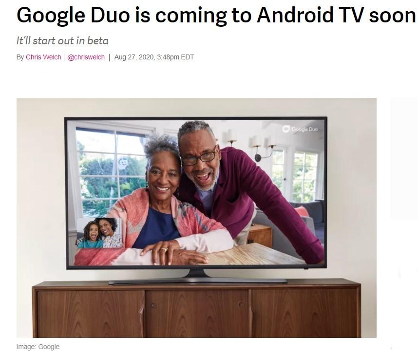 Google Duo en la tele
