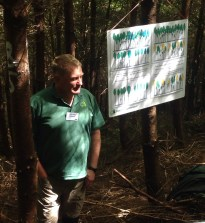 Jens Haufe (Research Officer, Bangor) led us in a practical tree-marking for thinning exercise