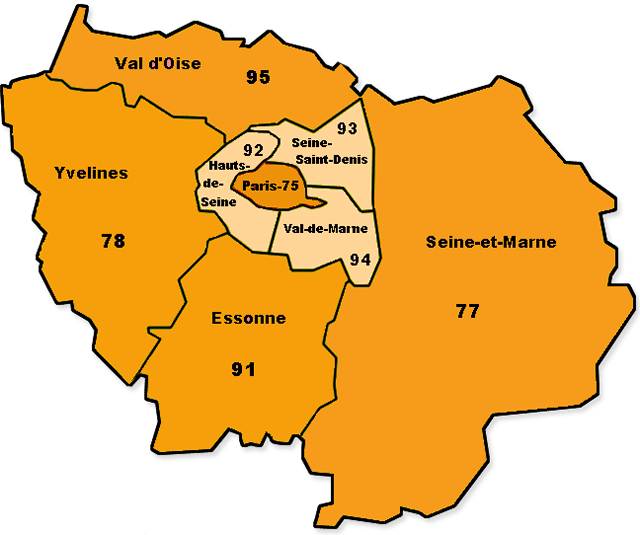 carte intervention Prosocius Ile de France