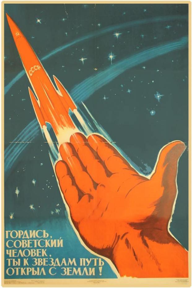 """"""" Siate orgogliosi, compagni, perché avete aperto una strada dalla terra alle stelle """". Su raccomandazione di Adrian sto leggendo Of Rockets and People,"""