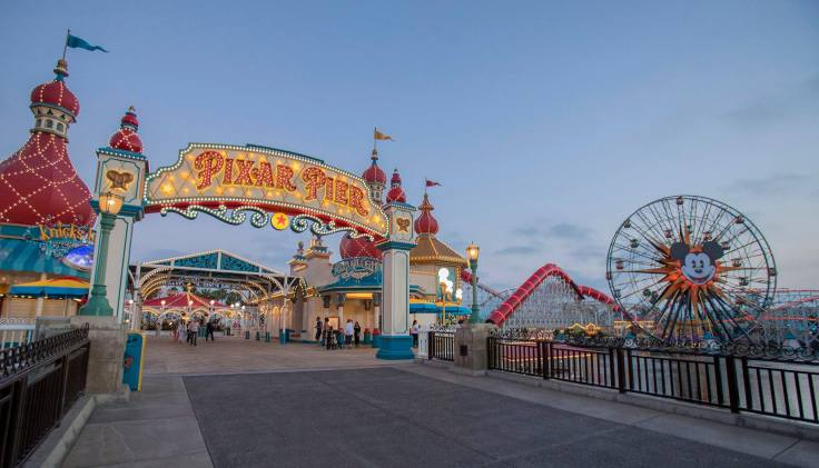 Pixar Pier Entrance