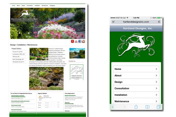 Hartland Designs Inc, Web Development, SEO, Social Media Integration, Mobile and Tablet enabled