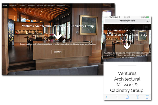 Venture Architects Millwork - Web Development - Digital Marketing Strategies, Social Media Integration, Mobile and Tablet enabled