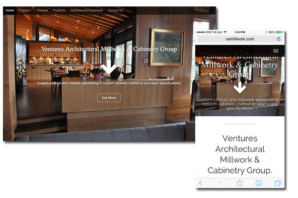 Venture Architects Millwork - Web Development - Digital Marketing Strategies, Social Media Integration, Mobile and Tablet enabled