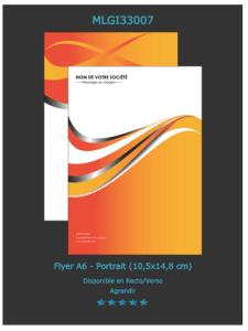 Prospectus Publicitaire A6 (modèle ou exemple à personnaliser en ligne)
