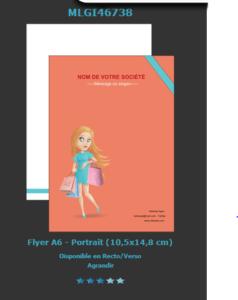 Retrouvez  ce modèle de flyer pour boutique de prêt à porter sur notre site. N'oubliez pas de nous demander  un devis  pour sa réalisation.