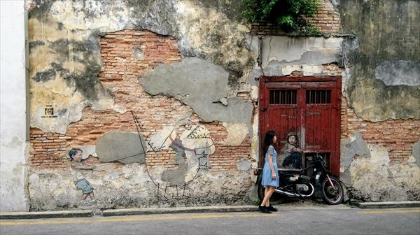 マレーシアペナン島のストリートアート