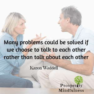 many problems could be solved.prosperitymindfulness