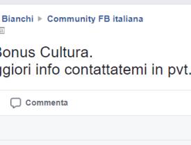 Vendo Bonus Cultura
