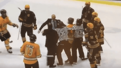 Photo of Coaches Drop The Gloves In Benches Clearing Brawl