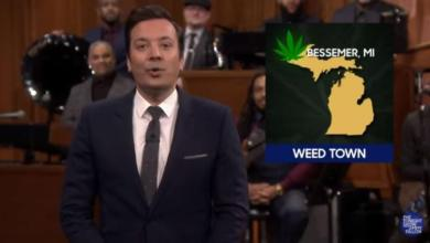 Photo of Watch: Western U.P.'s Bessemer  Gets Mentioned as 'Weed Town' in Jimmy Fallon's News Smash Segment | @jimmyfallon