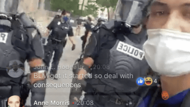 Photo of Samuel J. Robinson, the Reporter Who Covered the Violent 'Proud Boys' Rally/Counter-Protest, Was Arrested As He Was Filming a Facebook Live Video