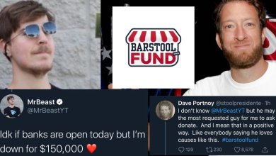 Photo of Barstool Fund Reaches Over $5 Million in Donations as YouTuber Mr. Beast Contributes $150K | @MrBeastYT @BarstoolFund @stoolpresidente