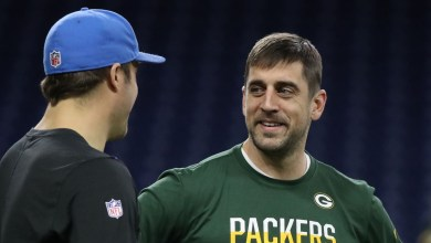 Photo of Aaron Rodgers Walked Into Detroit Lions Locker Room After Sundays Game! First Time In Entire Career He's Walked In Opposing Teams Locker Room – @PatMcAfeeShow @AaronRodgers12 #PatMcAfeeShowLive