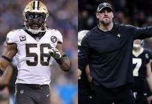 """Photo of """"He's always on fire, always ready to go. They are getting a great one""""- Saints Linebacker Demario Davis On Dan Campbell"""