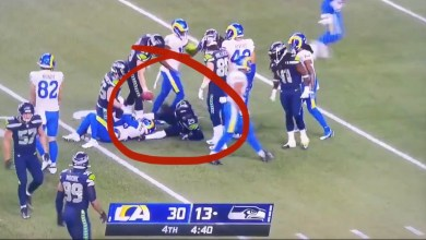 Photo of Seahawks Returnman DJ Reed Throws Punches At Rams Juju Hughes – Refs and Announcers Both Miss It