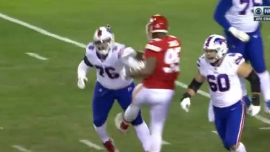 Photo of Chris Jones Just Threw A Punch at Jon Feliciano During AFC Championship Game – wasn't called