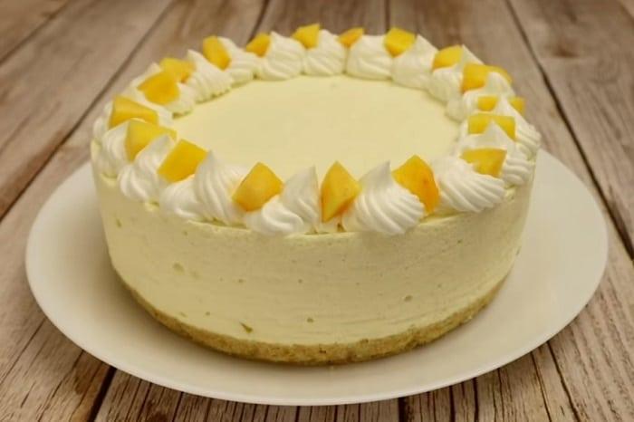 Персиковий торт суфле без випічки! Завжди готую його на день народження дочки