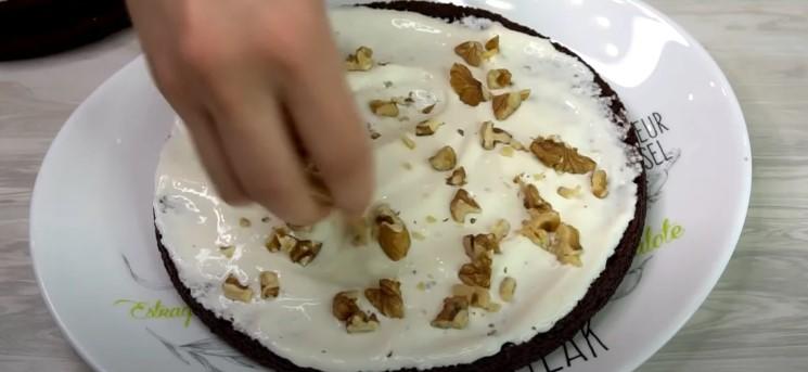 Торт «Три склянки»: перемішую ложкою і в духовку