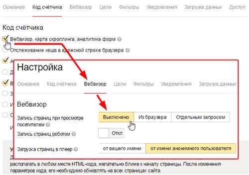 Яндекс метрика: нюанс