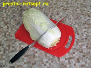 jak řezat zelí v pekingu