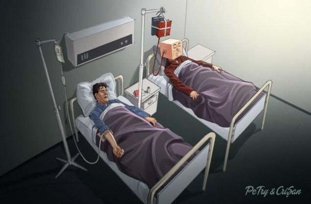 Куда катится наш мир?! 10 шокирующих иллюстраций о современном обществе.
