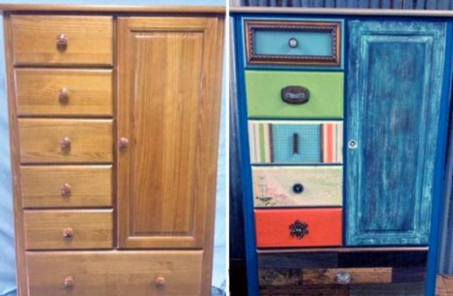 Советская мебель до и после переделки. Поверить не могу, что это старый сервант!