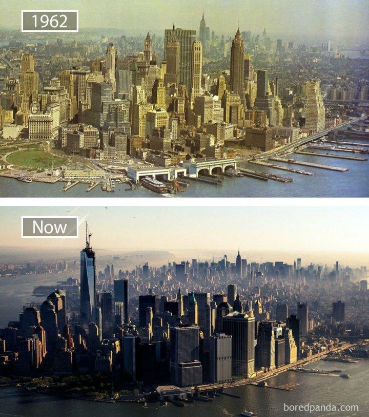 30 фото, как изменились со временем известные города мира