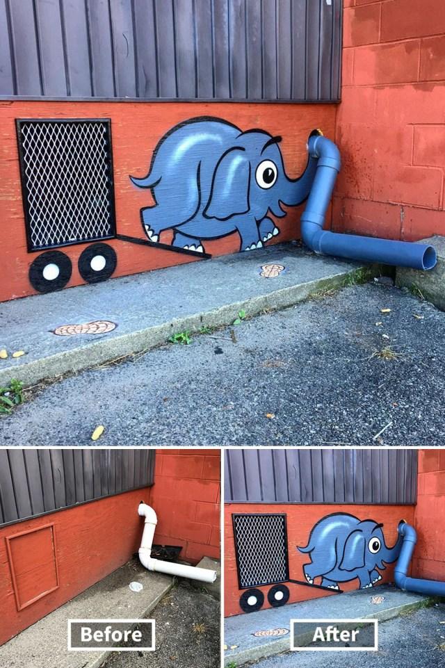 Гениальный уличный художник! Будем надеяться, что его никто не поймает
