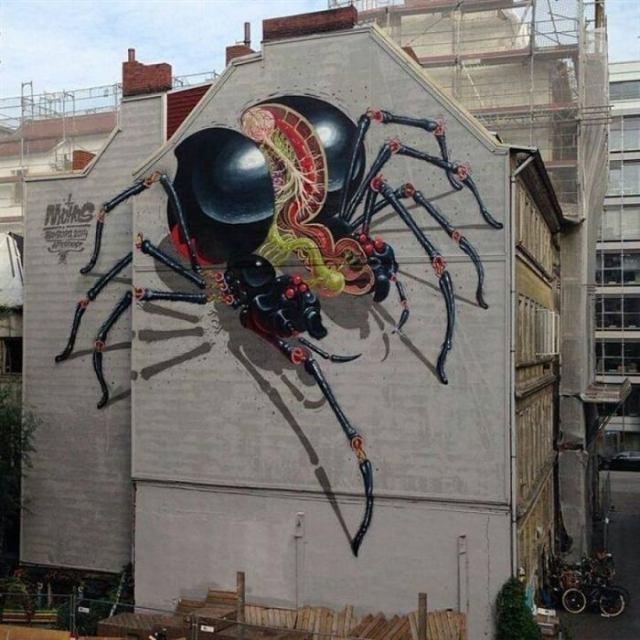 Невероятные трехмерные стрит-арт картины со всего света. Это просто шедевр!