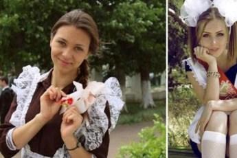 Фотографии выпускниц разных времен