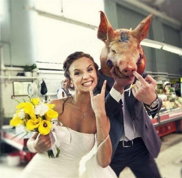 Невероятные и необычные свадебные фотографии