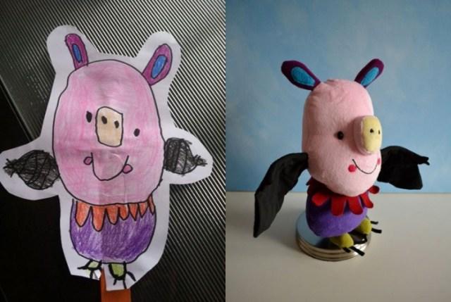 Художница шьет игрушки по эскизам детей