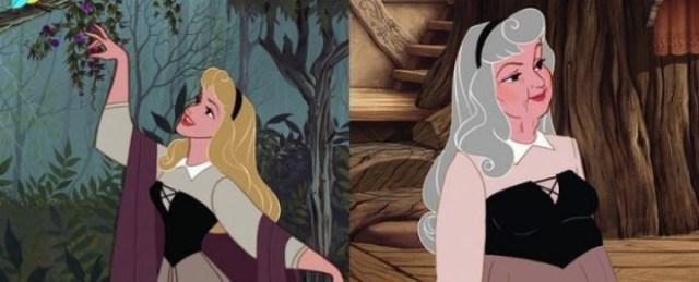 Как выглядели бы принцессы Дисней в старости и чем бы они занимались