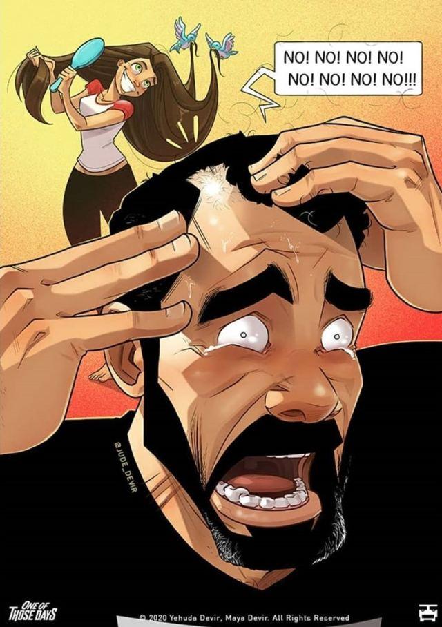 Талантливый иллюстратор создал новые комиксы из жизни молодой семьи