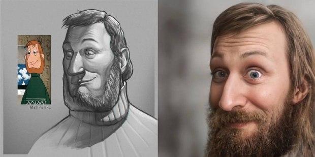 С помощью нейросети блогер воссоздал персонажей мультиков в реальный облик