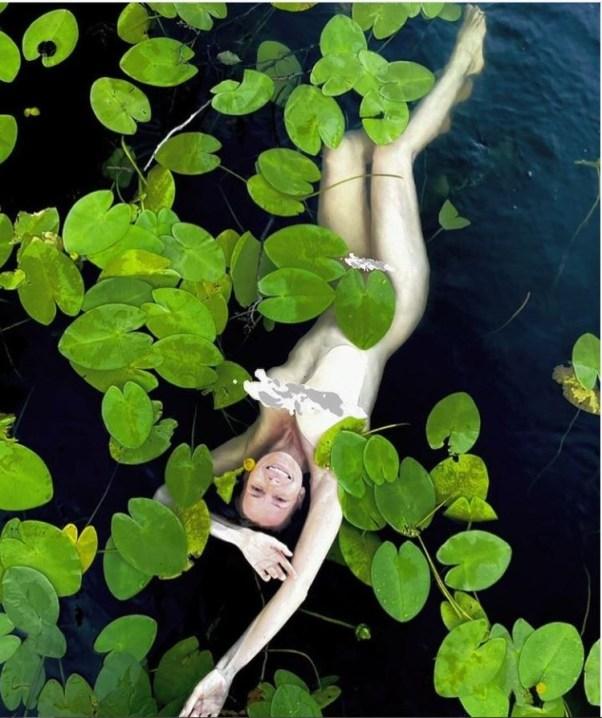 Снова кожа и кости. Толкалина в пруду заставила дочь заснять ее без панталонов