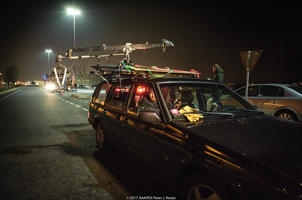 Jib arm - E-jib by Prosup review by Peter Reese - Jib mounted on car