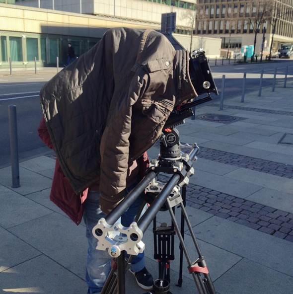 Cameraman marco eisenbarth with tango roller