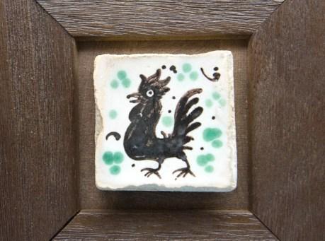 Detalle de azulejo pintado a mano
