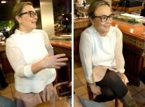 Silvia durante el interrogatorio